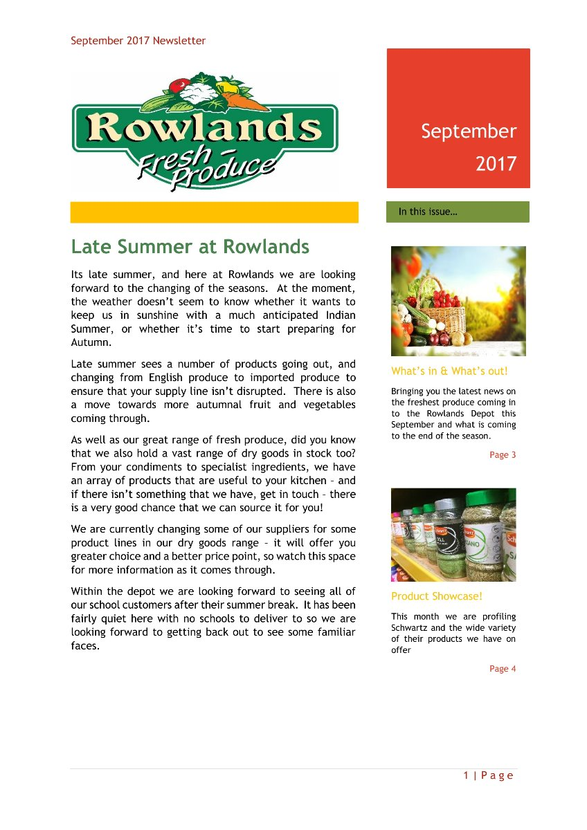 September Newsletter Page 1